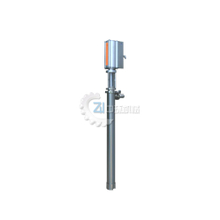 Pneumatic plunger type barrel inserting pump