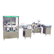 mechanical hand style double head eyedrop filling and capping machine